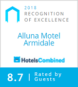 Alluna Motel Armidale - Recognition of Excellence Certificate by HotelsCombined